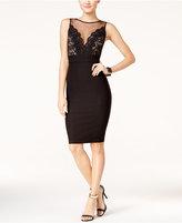 Trixxi Juniors' Illusion Lace-Detail Bodycon Dress