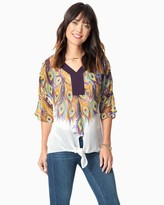 Charming charlie Peacock Tie Top