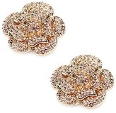 ElegantPark AF02 Sparkling Flower Rhinestones Shoes Decoration Rose Flower Silver Wedding Party Shoes Clips 2 Pcs