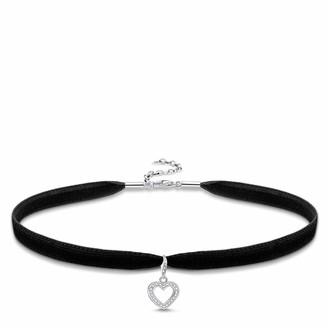 Thomas Sabo Women-Choker Heart Necklace Glam & Soul 925 Sterling silver SET0305-401-14-L36v