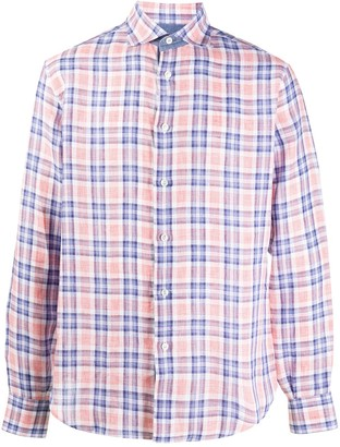 Brioni Long Sleeved Plaid Shirt