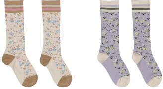 Paade Mode 2 Pairs Of Floral Cotton-Blend Socks