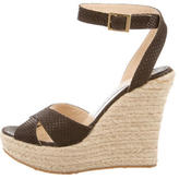 Jimmy Choo Multistrap Wedge Sandals