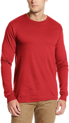 MJ Soffe Soffe Men's Pro Weight Long Sleeve Tee Safety Orange Small