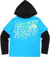 Fox Hacker 2Fer Hoodie (Little Kids/Big Kids) (Electric Blue) - Apparel