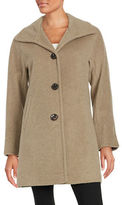 Ellen Tracy Wool-Blend A-Line Coat