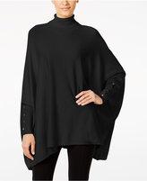 Alfani Petite Turtleneck Poncho Sweater, Only at Macy's