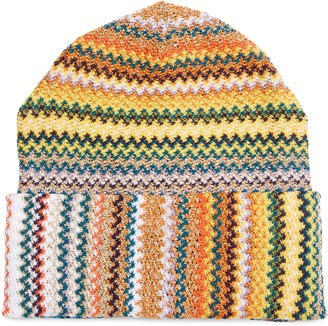 Missoni Metallic Zigzag Wool Blend Beanie