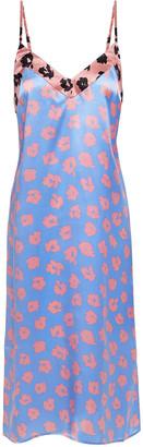 Equipment Leopard-print Satin Slip Dress