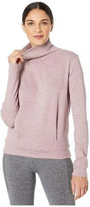 Alo Clarity Long Sleeve (Dusted Plum Heather) Women's Long Sleeve Pullover