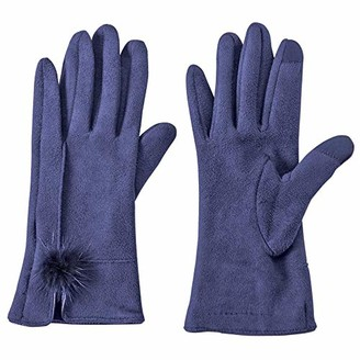 Mud Pie Women's Faux Suede Driving Gloves