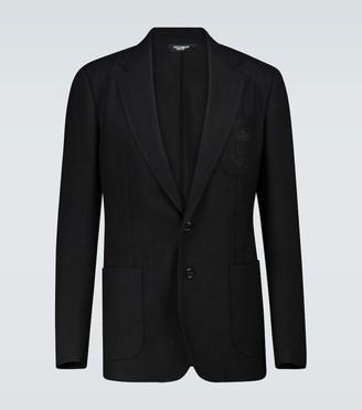Dolce & Gabbana SIngle-breasted wool jersey blazer