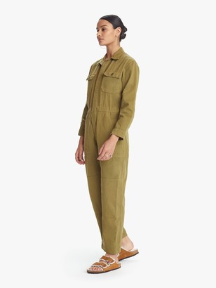 story. Overlover Rose Twill Jumpsuit - Army