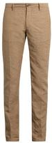 Incotex Slim-leg Linen-blend Chino Trousers