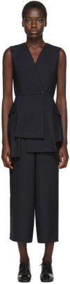 Enfold Navy Layered Jumpsuit