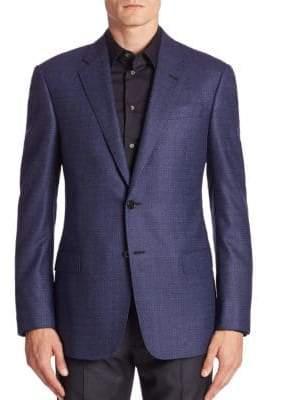 Giorgio Armani Virgin Wool Long Sleeve Jacket
