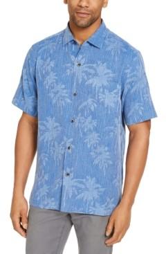 Tommy Bahama Men's Tropical Print Silk Short Sleeve Camp Shirt, Created for Macy's