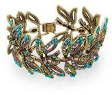 Heidi Daus Wings Of Wonder Swarovski Crystal Bracelet/Goldtone