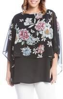 Karen Kane Sheer Floral Overlay Top