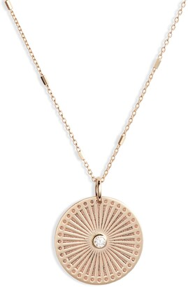 Sunbeam Zoë Chicco Small Diamond Medallion Necklace