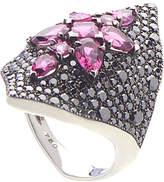 Stephen Webster 18K 5.52 Ct. Tw. Black Diamond & Rubellite Ring