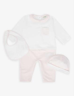 Fendi Stretch-cotton baby grow and bib set 3-6 months