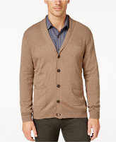 Tasso Elba Men's Big and Tall Faux Suede Shawl-Collar Cardigan, Only at Macy's