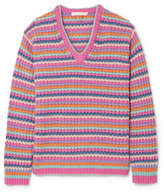 Marc Jacobs Striped Cashmere Sweater - Pink