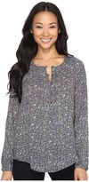 Lucky Brand Floral Peasant Top Women's Long Sleeve Pullover