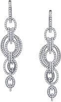 Lafonn Platinum Over Sterling Silver Simulated Diamond Micro Pave Circle Link Chandelier Earrings