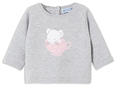 Jacadi Girls' Mouse & Teacup Sweater - Baby