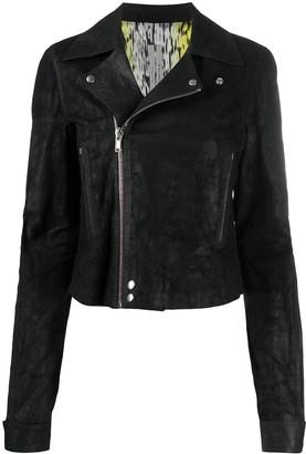 Rick Owens Zipped Leather Biker Jacket