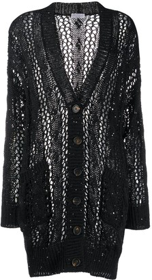 Brunello Cucinelli Ribbed Loose Knit Cardigan