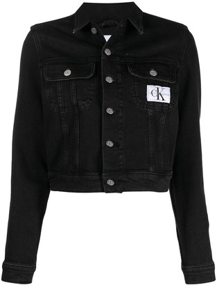 CK Calvin Klein Logo Patch Denim Jacket