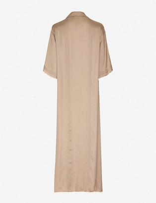 Eustacia pin-tucked cotton midi dress