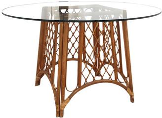 One Kings Lane Vintage Bentwood Bamboo & Glass Pedestal Table - Interesting Things