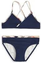 Burberry Girl's 'Crosby' Two-Piece Swimsuit