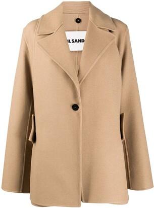 Jil Sander Layered Cashmere Coat