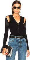 Alexander Wang Shoulder Slit Rib Cardigan