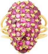 One Kings Lane Vintage Pavé Ruby Dome Gold Ring