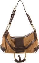 Dolce & Gabbana Suede & Leather Shoulder Bag