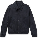 Ami Slim-fit Wool-blend Felted-twill Jacket - Navy
