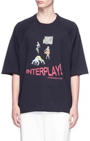 John Undercover Johnundercover 'INTERPLAY!' print French terry T-shirt