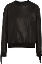 Alexander Wang Fringed leather sweatshirt