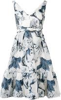 Erdem floral print dress - women - Silk/Polyamide/Polyester - 8