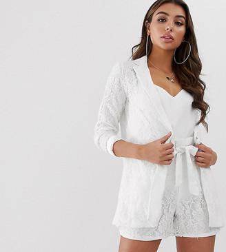 UNIQUE21 lace blazer two-piece