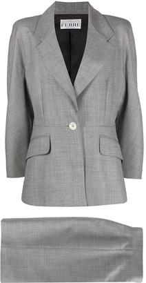 Gianfranco Ferré Pre Owned Notched Lapels Skirt Suit