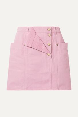 Jacquemus La Jupe De Nimes Layered Denim Mini Skirt - Baby pink