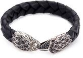 John Hardy Sapphire onyx silver eagle braided leather bracelet