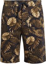 Vince Tropical-print cotton-jersey shorts
